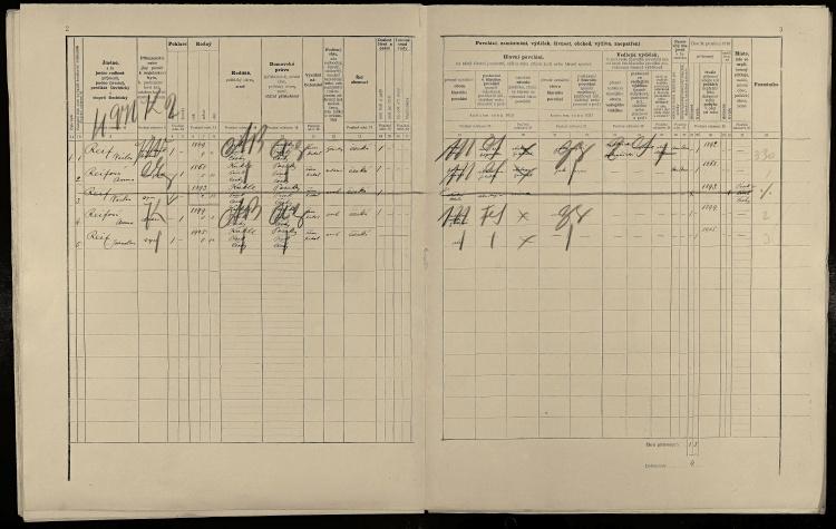 © SOkA v Písku, fond Okresní úřad Písek I, 1850–1945, sčítání lidu 1910, soudní okres Písek, lokalita Kukle, sn. 18