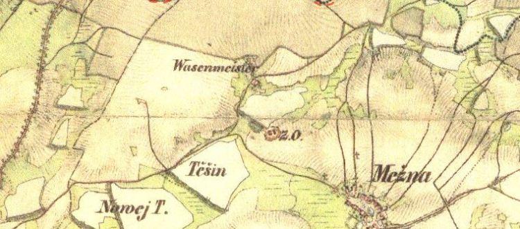 Pohodnice, Mezná. Františkovo vojenské mapování, 1836–1852, list O-14-IV