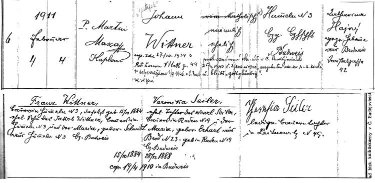 Řím.-katol. f. ú. Boršov nad Vltavou, matrika N 1909–1929, fol. 27 (OÚ Boršov nad Vltavou)