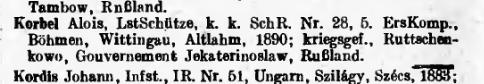 Verlustliste ausgegeben am 7.6.1917, Nr. 587, pag. 28