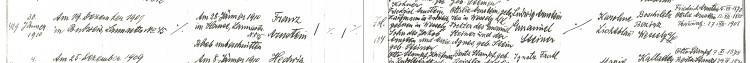 NA ČR, Židovské matriky, úřední knihy. Budějovice, inv. č. 246, N 1863-1940, 1942-1949, záp. 429