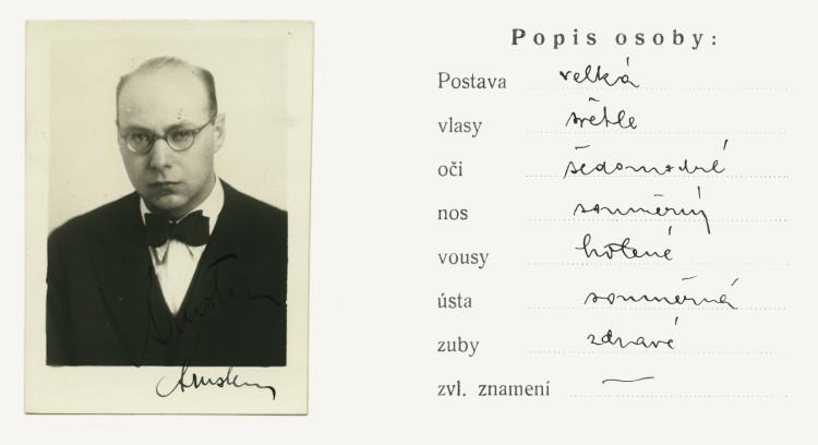 Tiskopis na žádost na všeobecnou občanskou legitimaci č. 58226-B, 5.12.1939 (NA ČR, fond Policejní ředitelství v Praze, 1941-50, sign. A540/2)