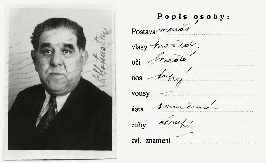 NA ČR, fond Policejní ředitelství v Praze, 1931-1940, sign. A491/10 (Tiskopis na žádost o všeobecnou občanskou legitimaci č. 12668a, 30. listopadu 1939)
