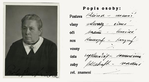 NA ČR, fond Policejní ředitelství v Praze, 1941-1950, sign. A543/9 (Tiskopis na žádost o všeobecnou občanskou legitimaci č. 6735a, 30. října 1939)