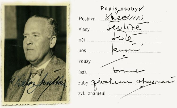 Tiskopis na žádost za všeobecnou občanskou legitimaci, 14.5.1937 (NA ČR, fond Policejní ředitelství v Praze, 1931-40, sign. A493/30)