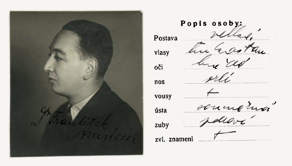 NA ČR, fond Policejní ředitelství v Praze, 1941-1950, sign. A492/27 (Tiskopis na žádost o všeobecnou občanskou legitimaci, 13. září 1939)