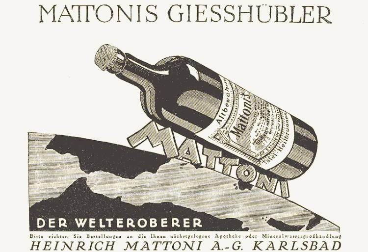 Reklama Mattoniho kyselky, 1925